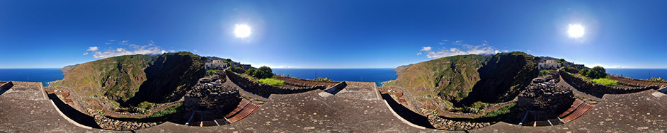 La Palma, panoramafoto Tablado