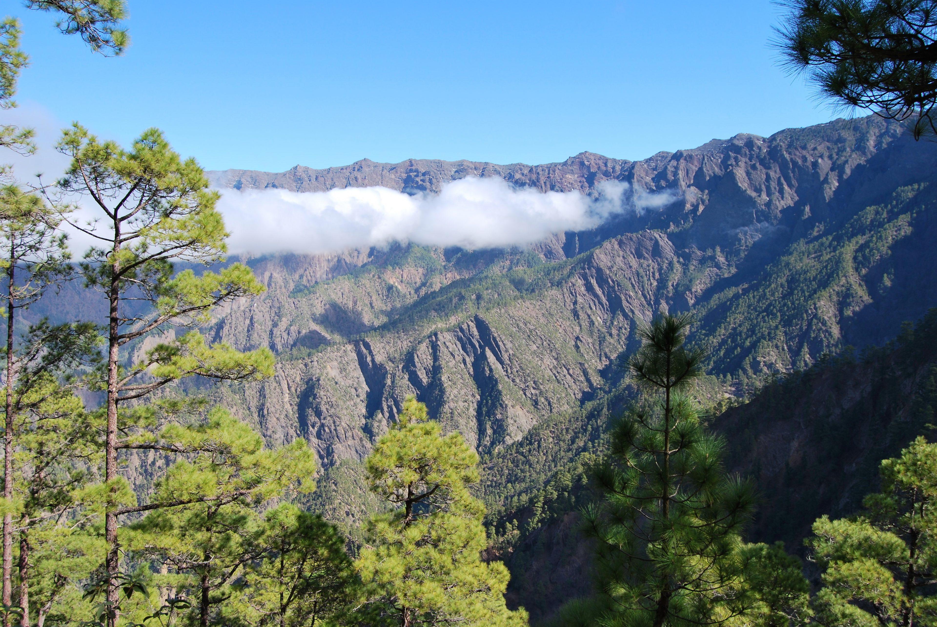 Caldera vanaf de Cumbrecita.
