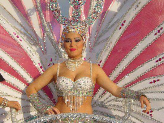 De koningin van het carnaval