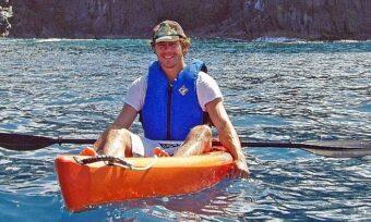 Kayaking met neef Nick.