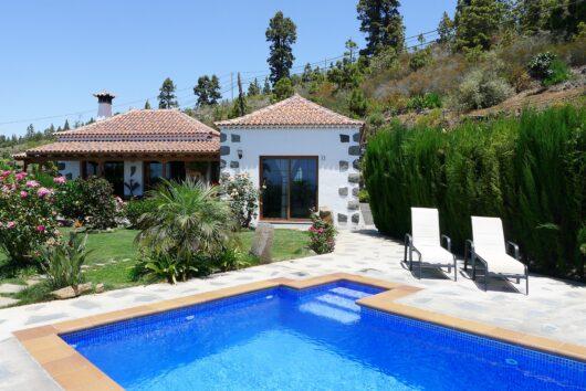 Vakantiehuizen in het westen van La Palma.