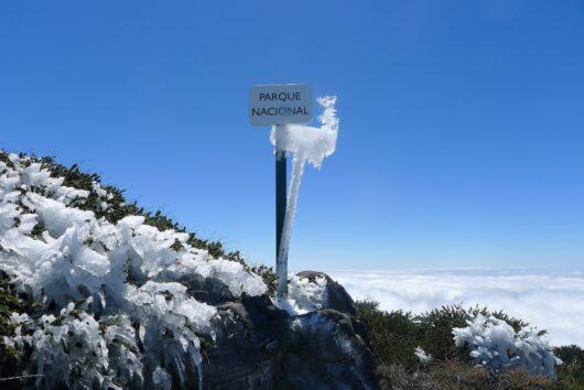 Nationale park in de winter